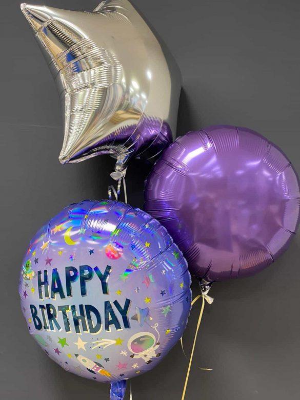 Happy Birthday € 5,50<br>Deko - Ballons je € 4,50 2