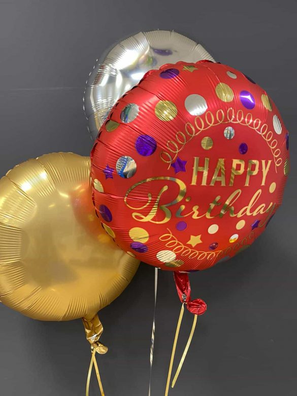 Happy Birthday rot € 5,50<br> Dekoballons je € 4,50 8
