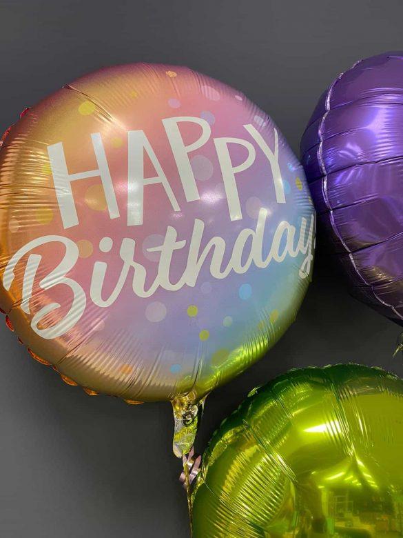 Happy Birthday € 5,50<br>Deko-Ballons je € 4,50 4